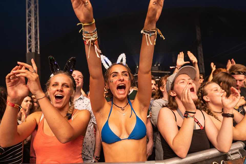 Front row fans at Sziget Festival
