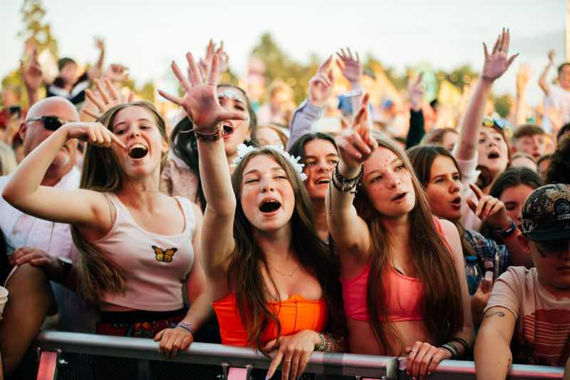 Front row fans at The Big Feastival
