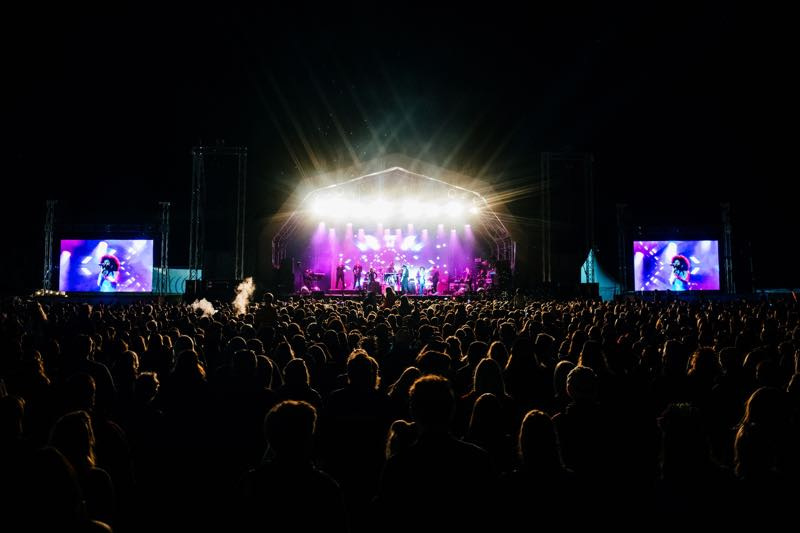 Stage lights show at The Big Feastival