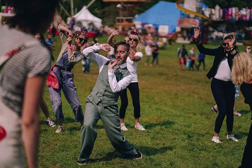 Group dancing at the Great Estate Festival