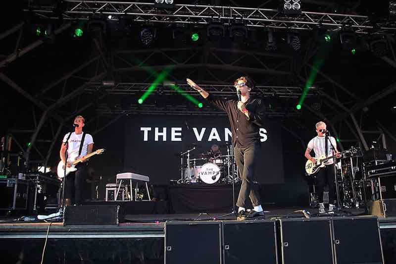 The Vamps performing at the Great Wonderfest
