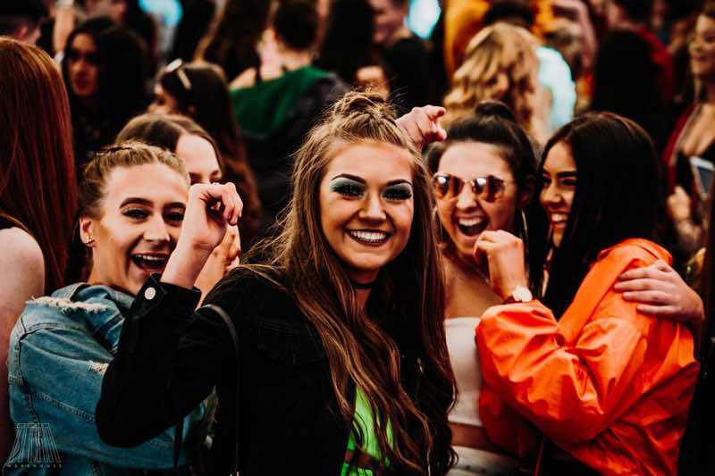 Fans having fun at Titan Warehouse Festival