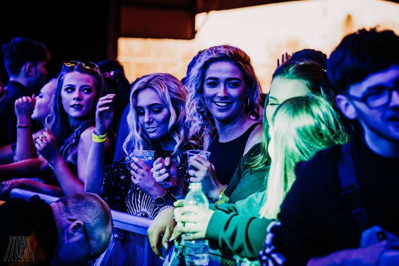 Front row fans at Titan Warehouse Festival