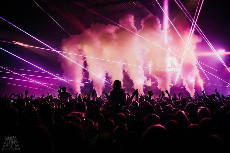 Stage colours at Titan Warehouse Festival