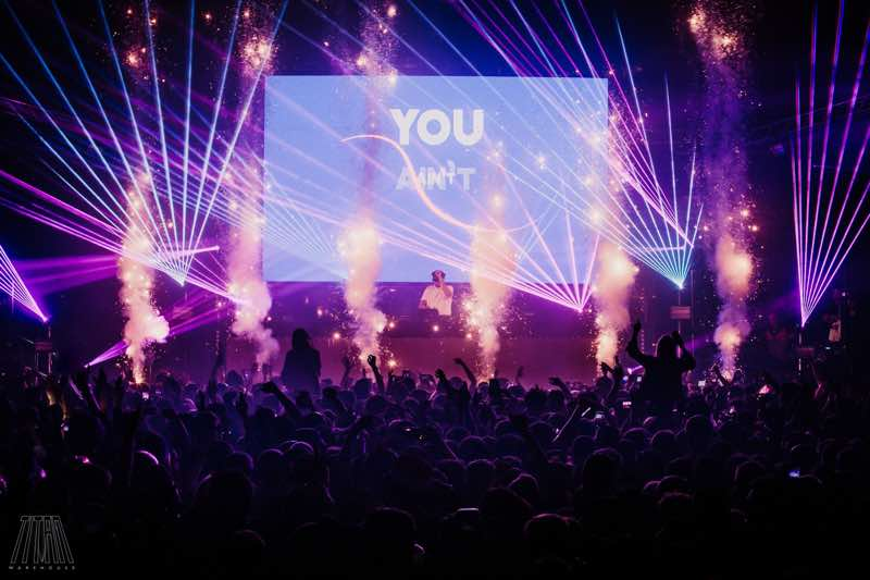 Stage lights show at Titan Warehouse Festival