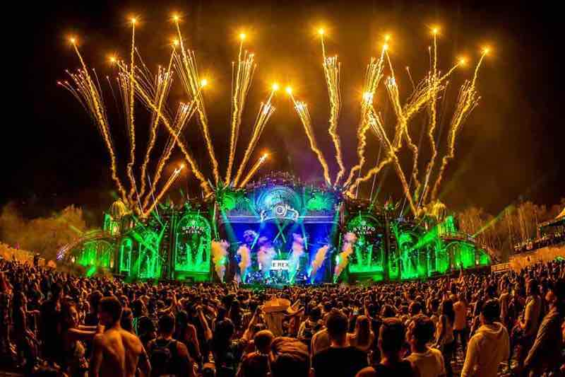 Elegant fireworks at Tomorrowland Festival