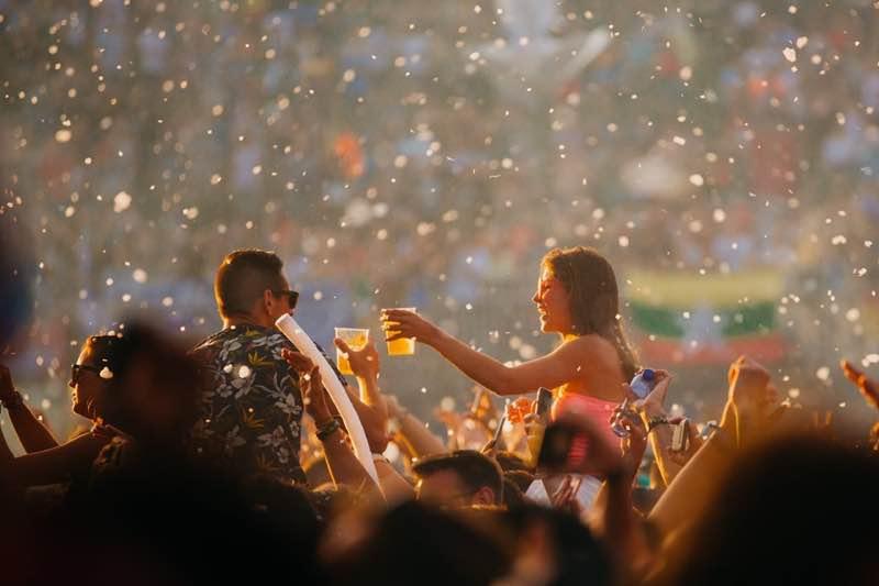 Fans enjoying at Tomorrowland Festival