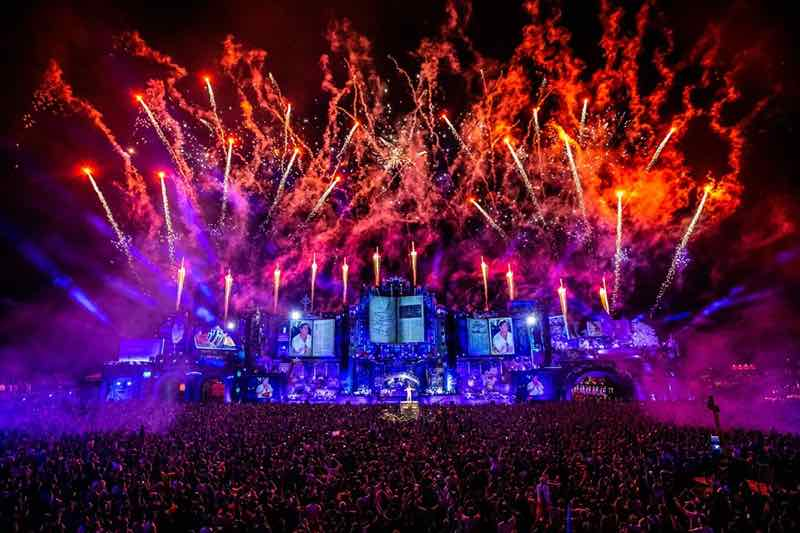 Fireworks show at Tomorrowland Festival