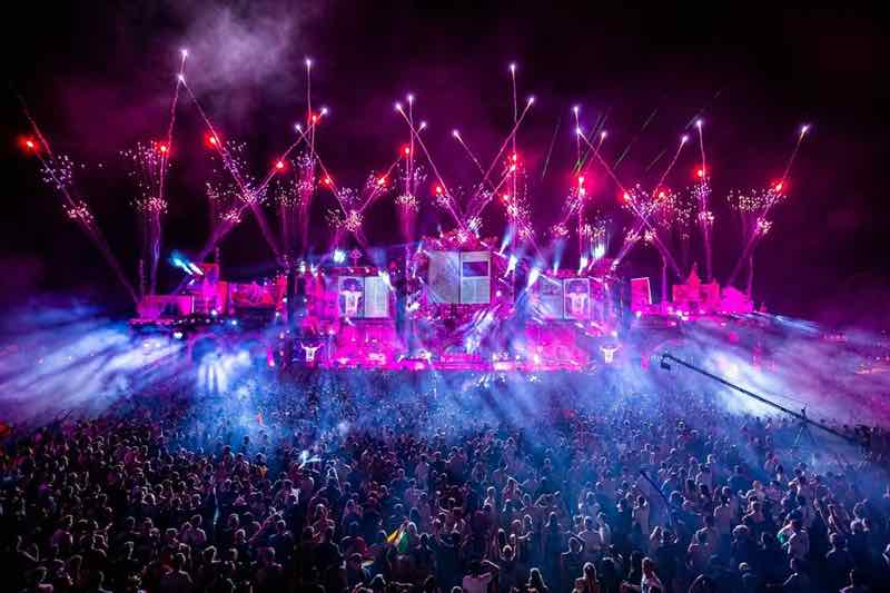 Stage lights show at Tomorrowland Festival