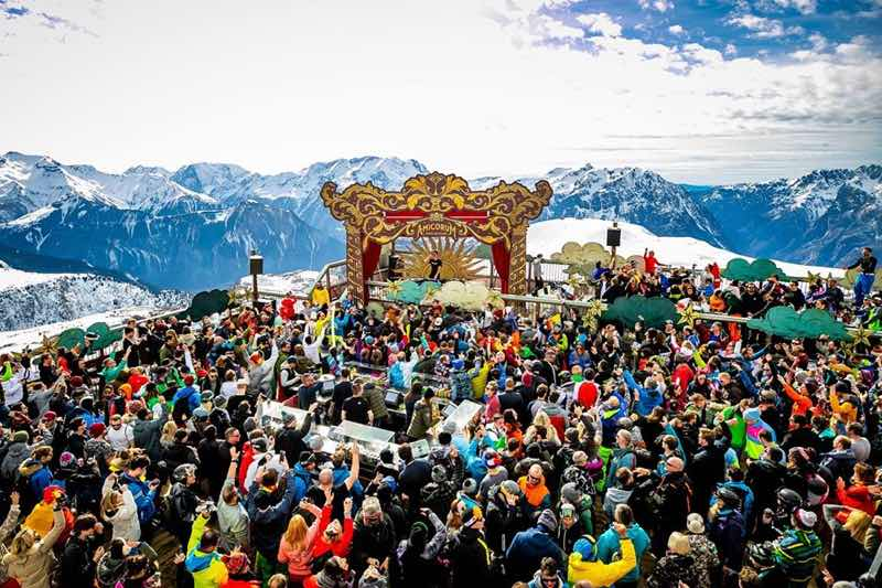 Mountain view stage at Tomorrowland Winter