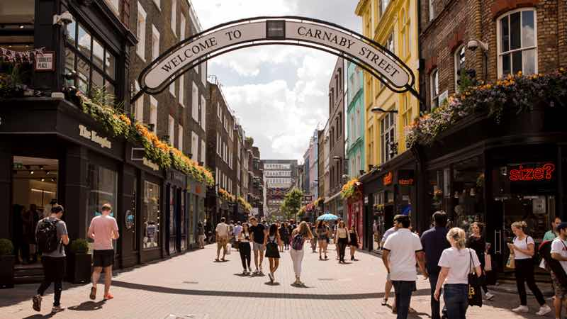London top places for shopping