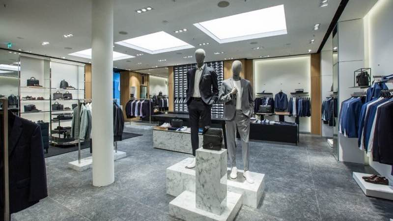 Hugo Boss Store in Knightsbridge in London top places for shopping