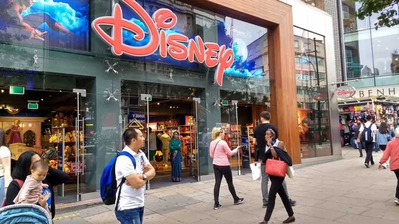 Disney Shop in Oxford Street in London best shopping areas