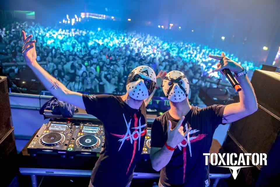 Face masks at Toxicator Festival