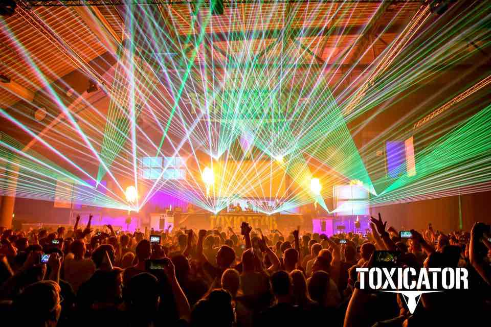 Laser show at Toxicator Festival