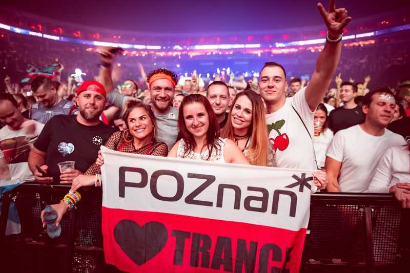 Fans enjoying at Transmission Festival in Prague