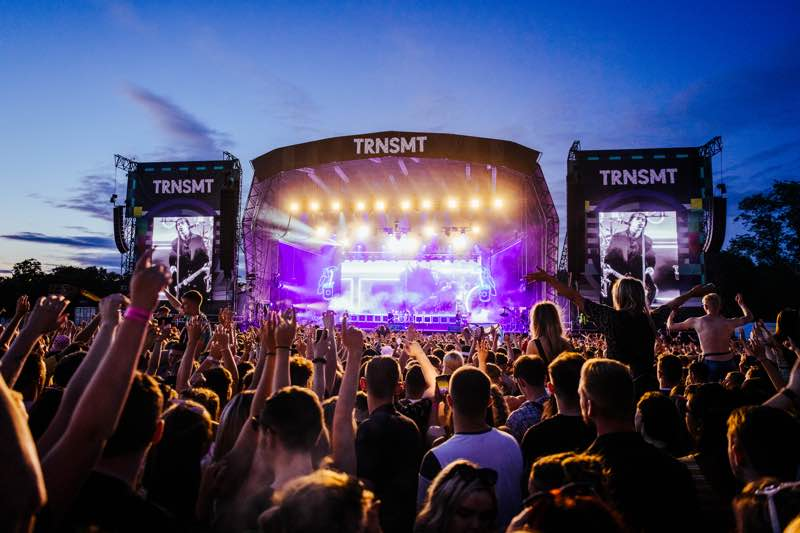 Stage lights show at TRNSMT Festival
