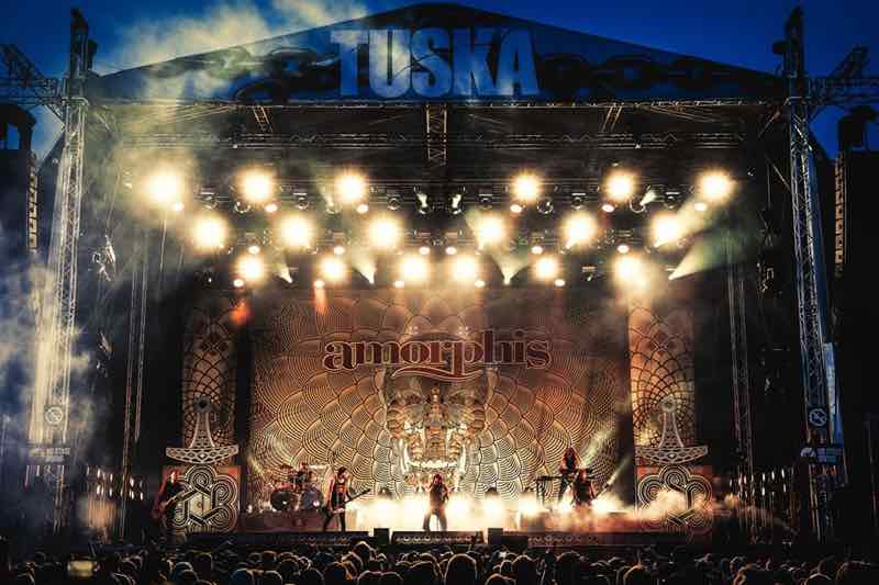 Main stage lights at Tuska Festival