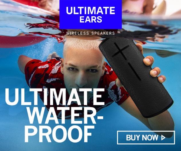 Ultimate Ears Wireless Waterproof Speakers