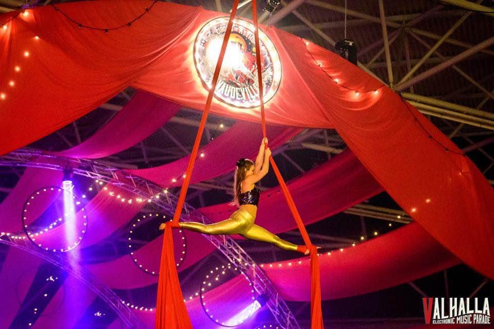 Acrobatic show at Valhalla Festival