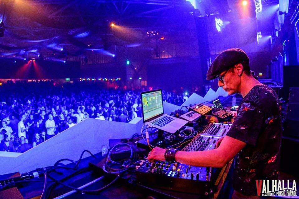 Dj mixing at Valhalla Festival