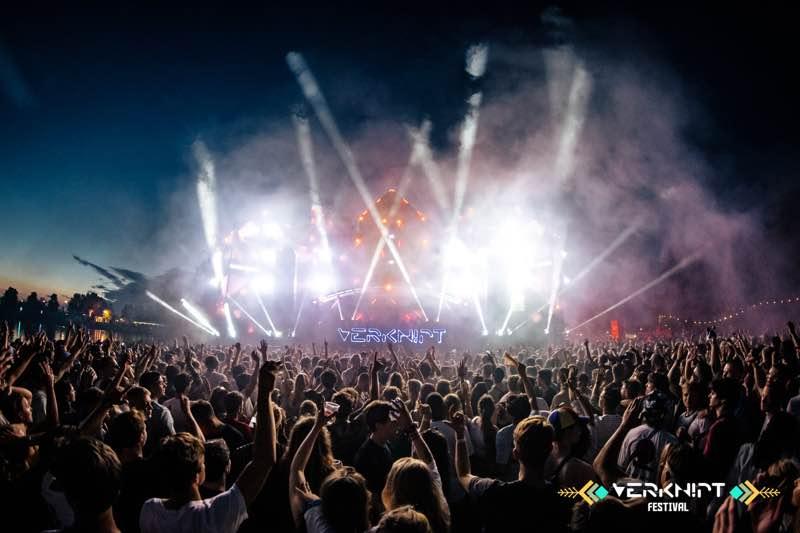 Lights show on stage at Verknipt Festival