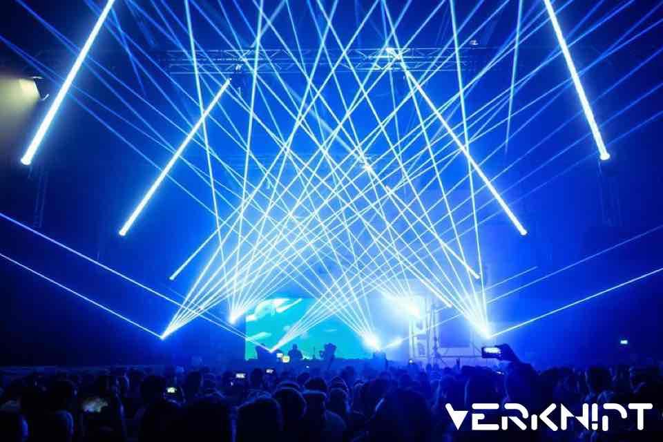 Laser Show at Verknipt New Years Eve Festival