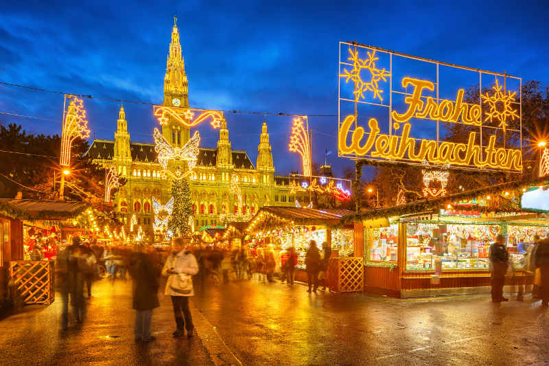best christmas destinations vienna christmas market - Best Christmas Getaways