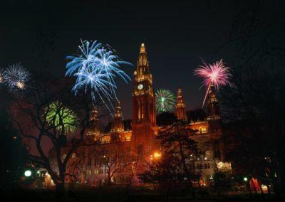 Saint Stephen Cathedral Fireworks in Vienna