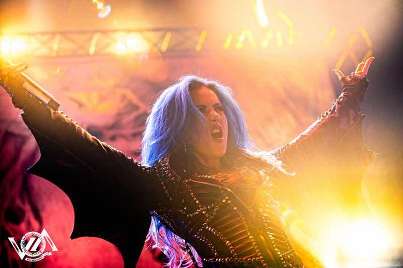 Arch Enemy performing at VOA Heavy Rock Festival