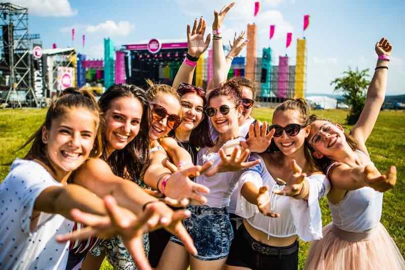 Fans posing at Volt Festival