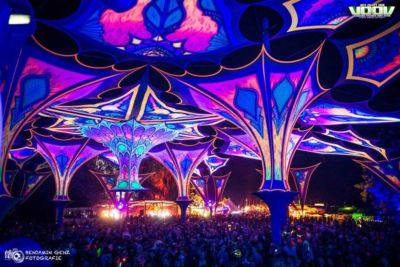Amazing stage at voov experience psytrance festival