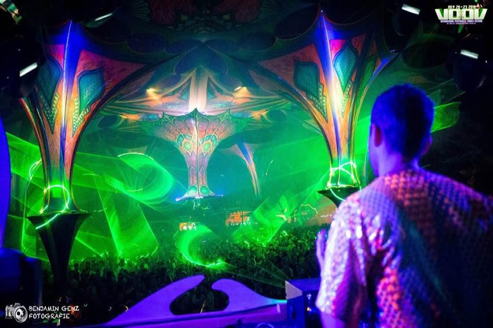 Dj box view at voov experience psytrance festival