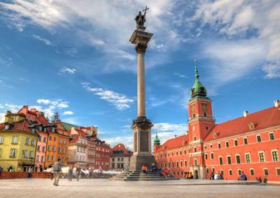 Sigismund Column Royal Castle in Warsaw