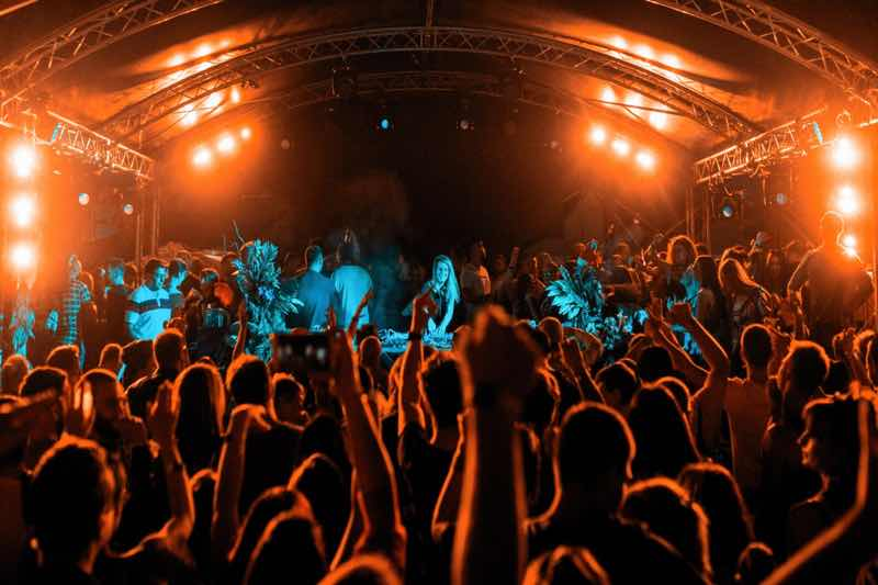 Stage lights at We Love Sound Festival