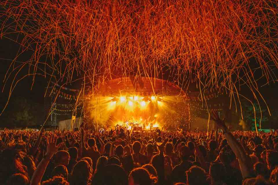 Stage lights at Wilderness Festival