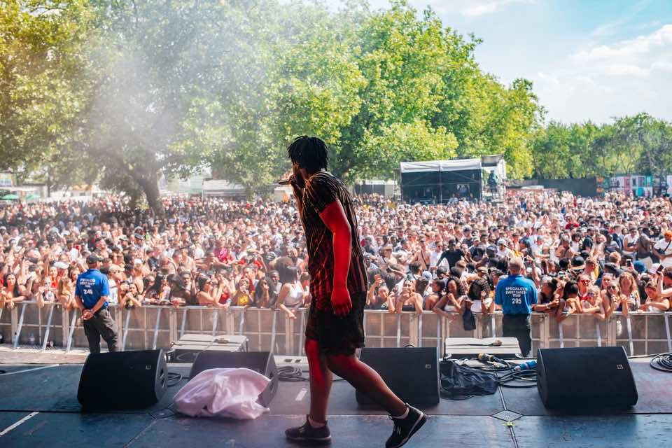 Avelino live on stage at Wireless Festival