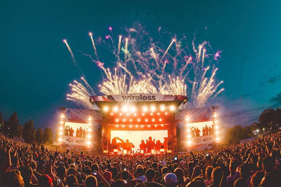 Party stage at Wireless Festival