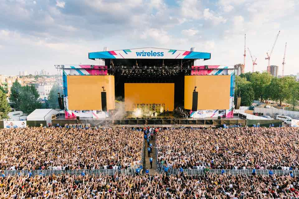 Post Malon live stage at Wireless Festival