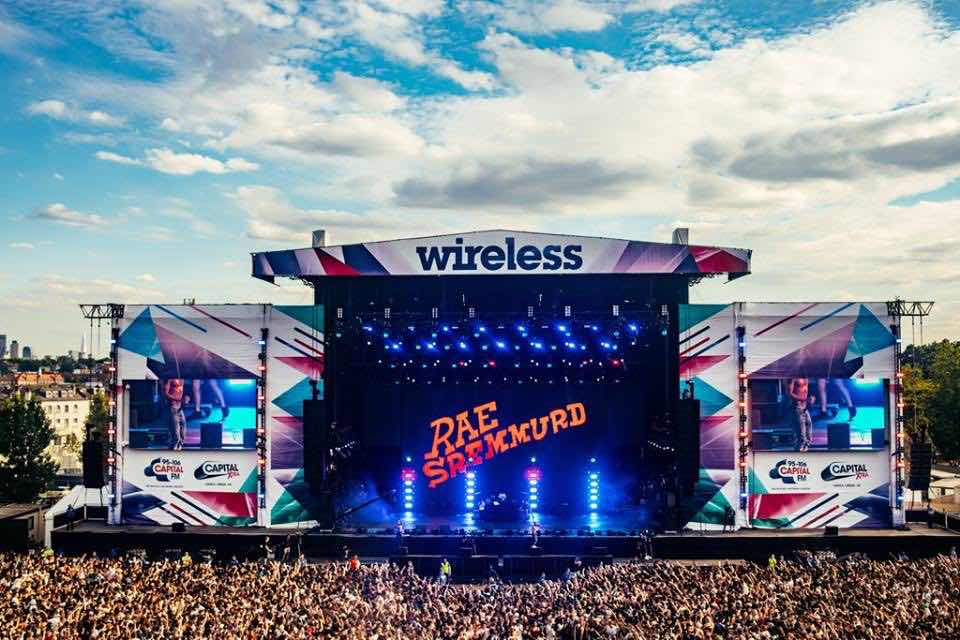 Main stage view at Wireless Festival