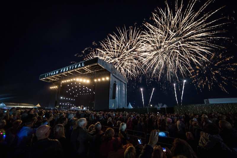 Fireworks on stage at WonderHall Festival