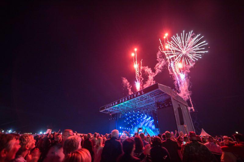 Fireworks at WonderHall Festival
