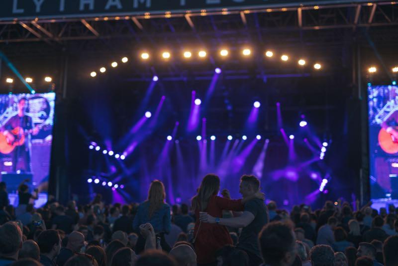 Stage Lights at WonderHall Festival