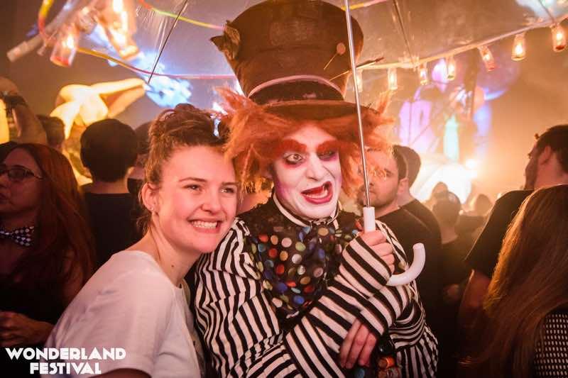 Fans having fun at Wonderland Festival Weekender