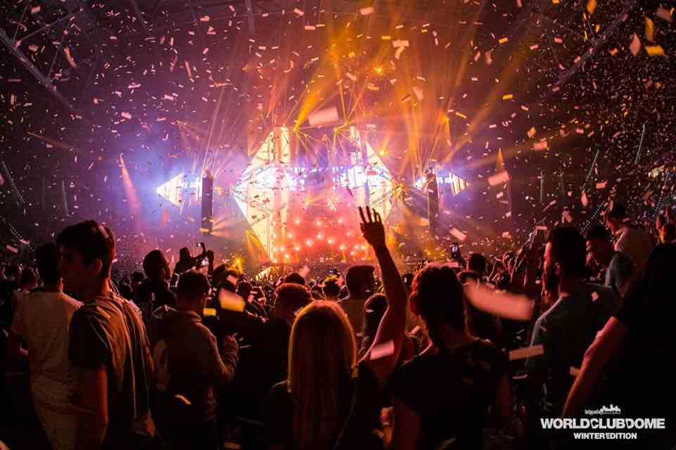 Dancing at World Club Dome Winter Edition Festival