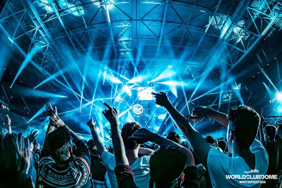 Lights show at World Club Dome Winter Edition Festival