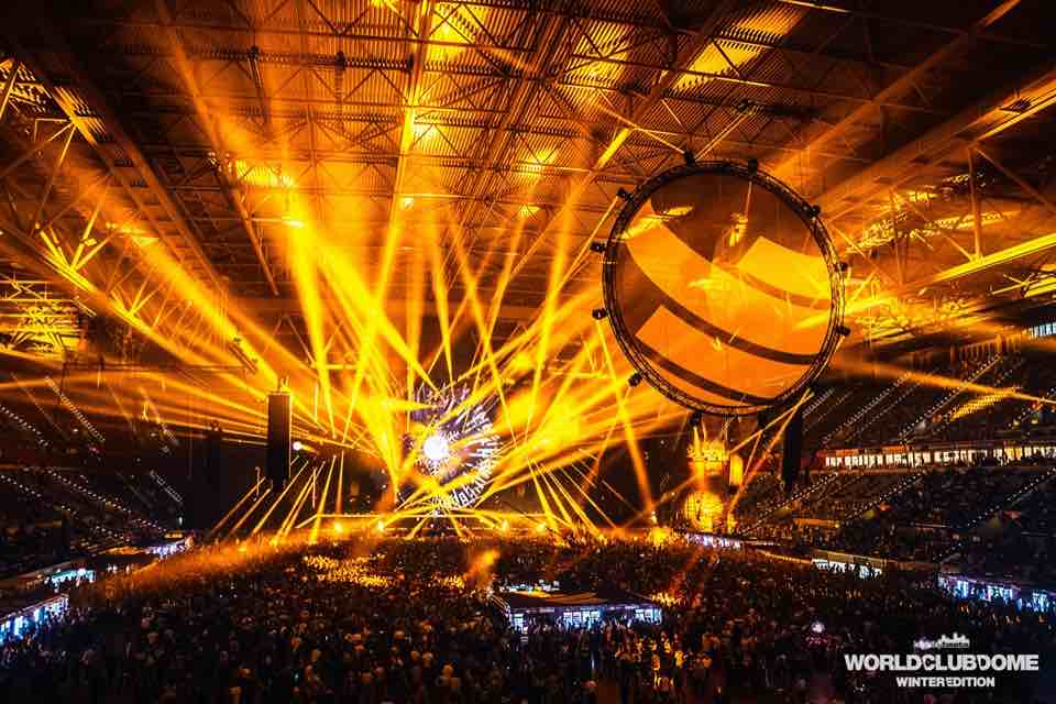 Stage lights at World Club Dome Winter Edition Festival