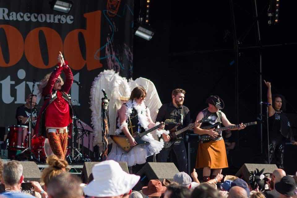 Performing at Wychwood Festival