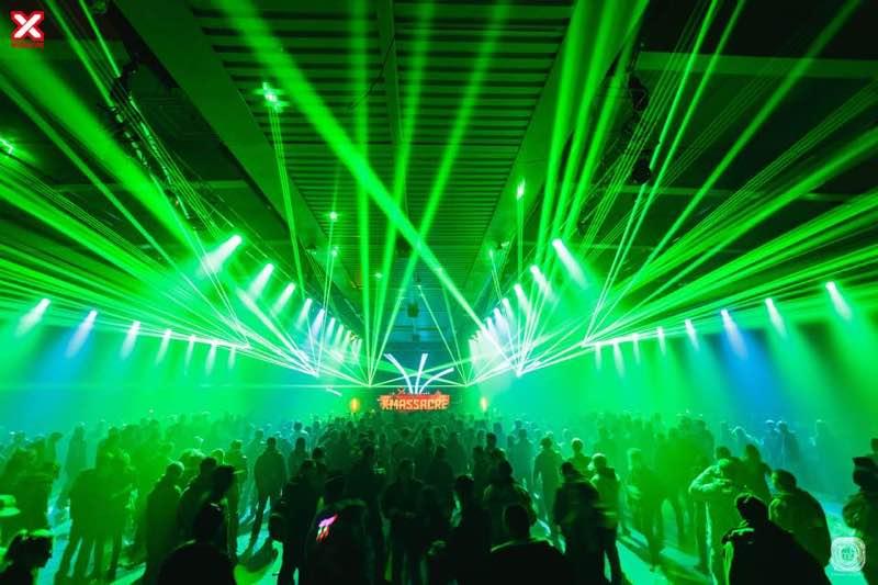 laser show at X-Massacre Festival