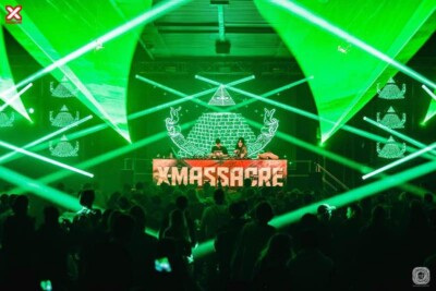 Amazing stage lights at X-Massacre Festival